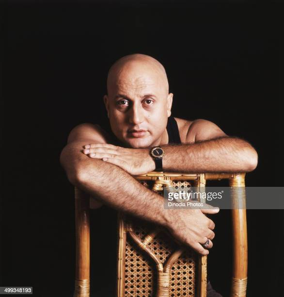 1989 Portrait of Indian film actor Anupam Kher