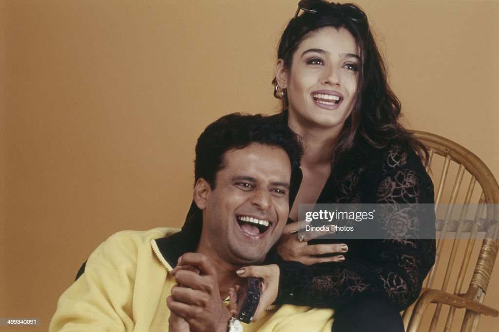 2002, Portrait of Indian film actor <a gi-track='captionPersonalityLinkClicked' href=/galleries/search?phrase=Manoj+Bajpai&family=editorial&specificpeople=2328925 ng-click='$event.stopPropagation()'>Manoj Bajpai</a> and actress <a gi-track='captionPersonalityLinkClicked' href=/galleries/search?phrase=Raveena+Tandon&family=editorial&specificpeople=3007225 ng-click='$event.stopPropagation()'>Raveena Tandon</a>.