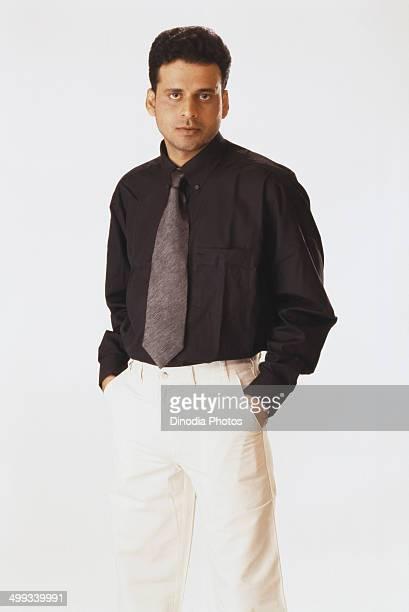 2000 Portrait of Indian film actor Manoj Bajpai
