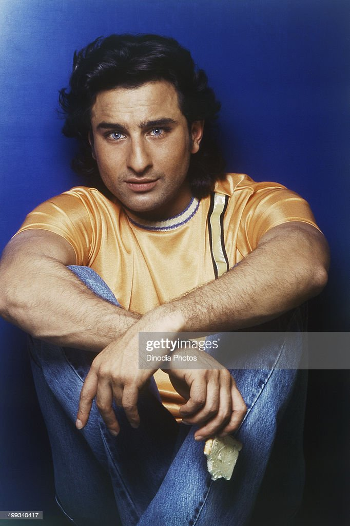 1998, Portrait Of Indian film actor <a gi-track='captionPersonalityLinkClicked' href=/galleries/search?phrase=Saif+Ali+Khan&family=editorial&specificpeople=3117032 ng-click='$event.stopPropagation()'>Saif Ali Khan</a>.