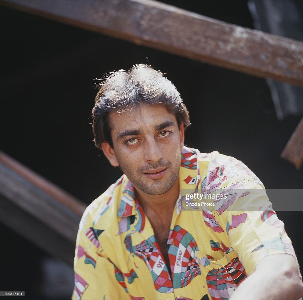1987, Portrait of Indian film actor Sanjay Dutt.