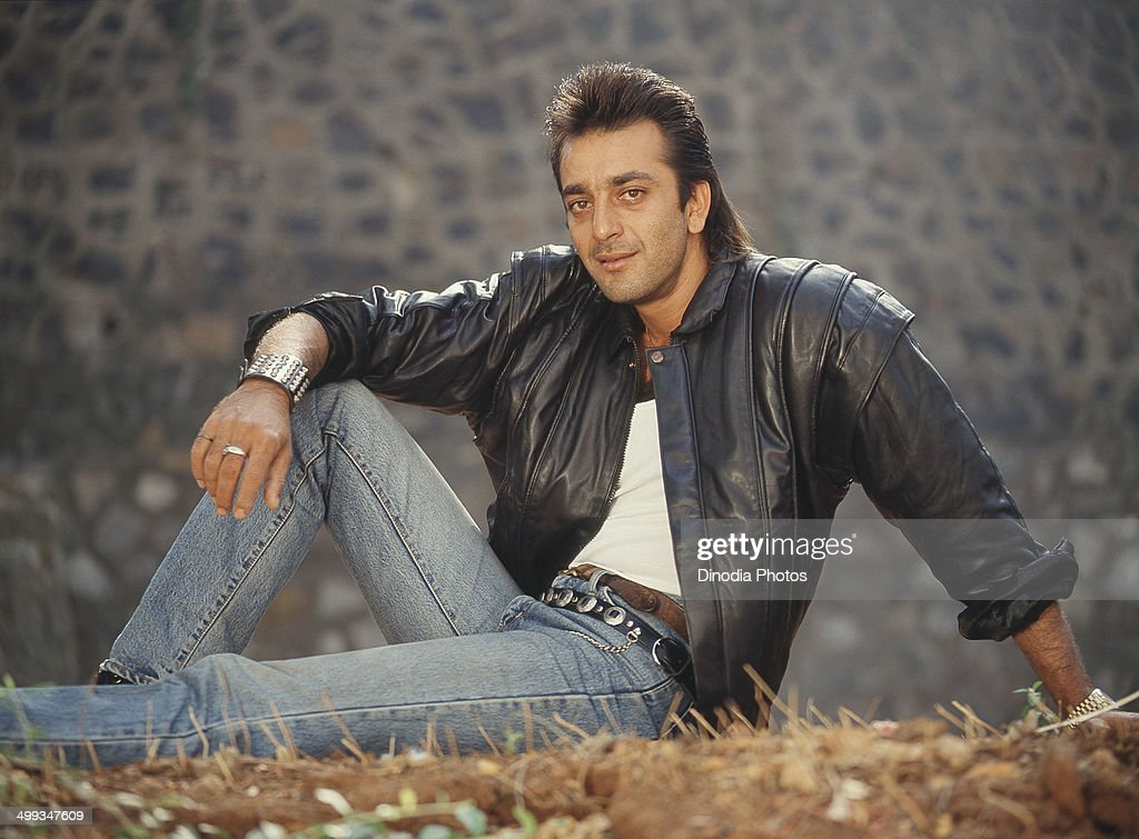1990, Portrait of Indian film actor Sanjay Dutt.