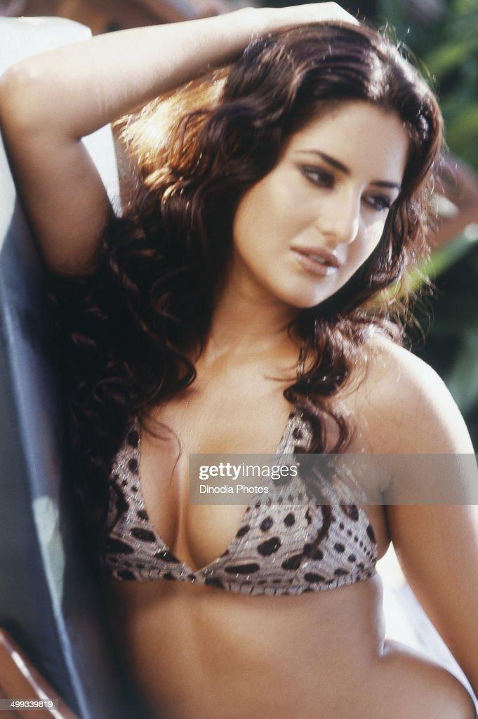 2001 Portrait of Indian film actress and model Katrina Kaif