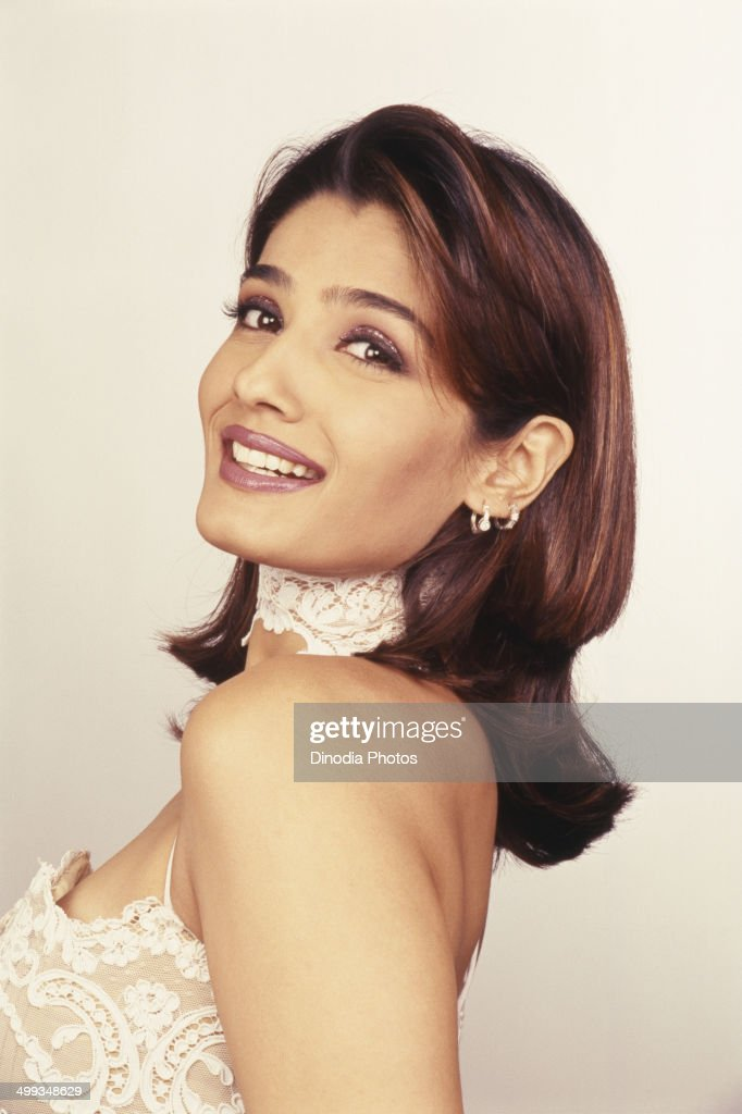 2002, Portrait of Indian film actress <a gi-track='captionPersonalityLinkClicked' href=/galleries/search?phrase=Raveena+Tandon&family=editorial&specificpeople=3007225 ng-click='$event.stopPropagation()'>Raveena Tandon</a>.