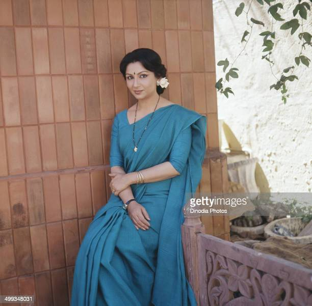 1986 Portrait of Indian film actress Sharmila Tagore