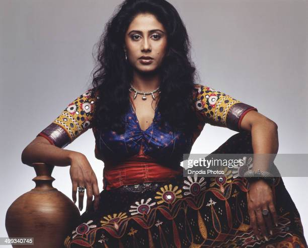 1980 Portrait Of Indian film actress Smita Patil