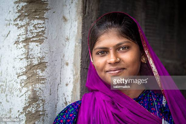 Portrait of Indian girl, Rajasthan, India.
