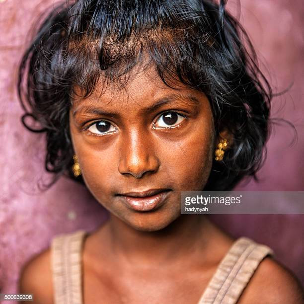 Portrait of Indian little girl, Kerala, India