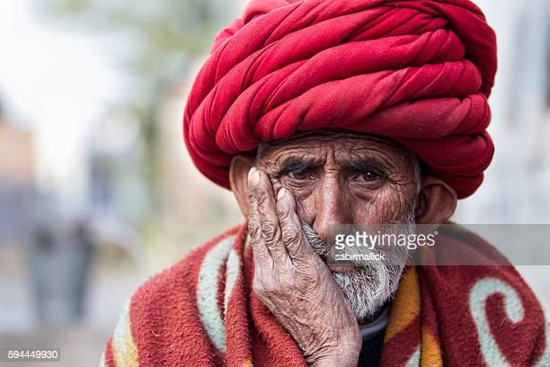 Portrait of Indian men, Rajasthan, India