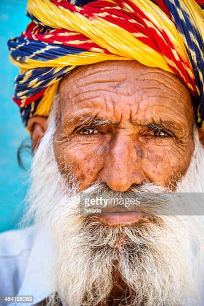 Portrait of Indian old man