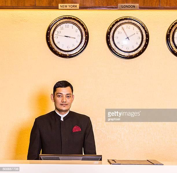 Portrait of Indian Receptionist