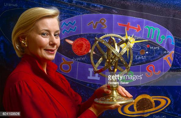 A portrait of international astrology and writer Marjorie Orr in the summer of 1989 in London England Orr was originally a BBC documentary producer...