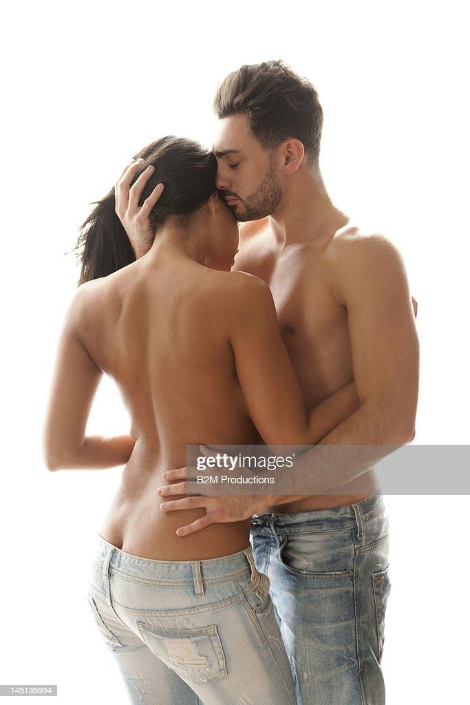 Portrait Of Intimate Couple : Stock Photo
