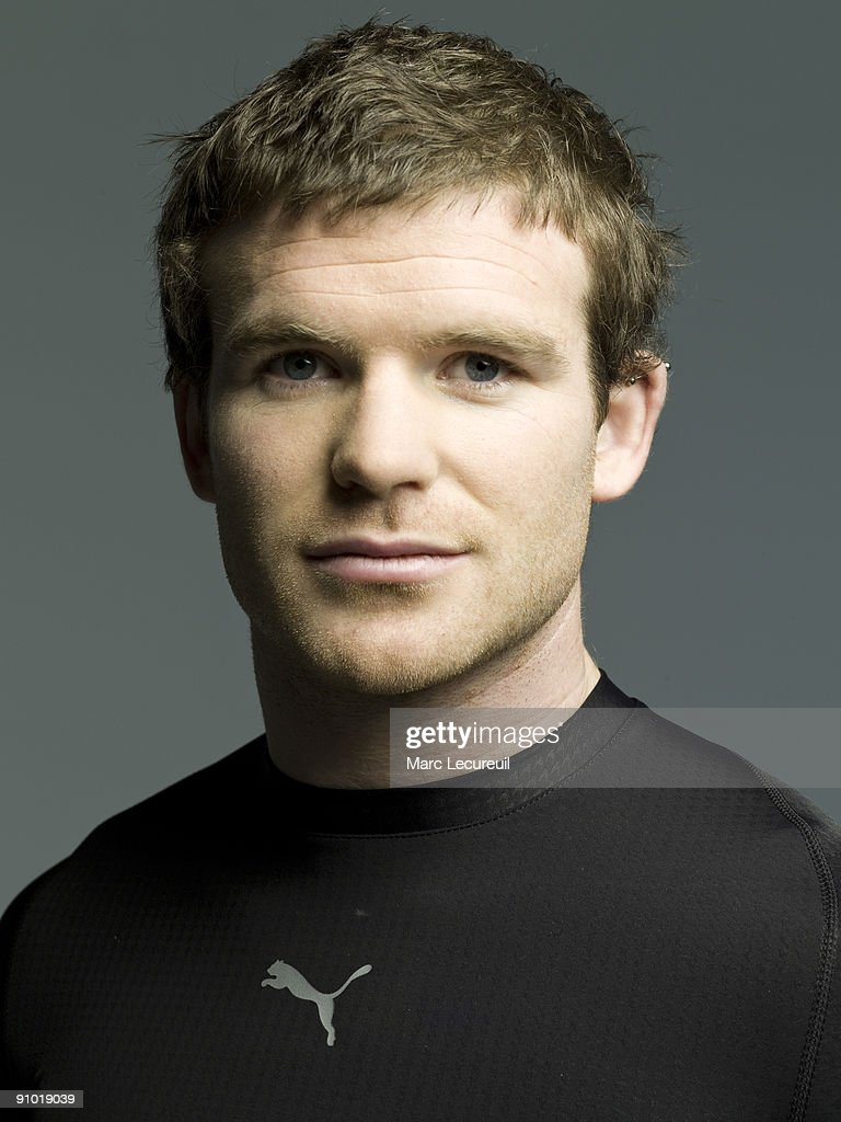 Portrait of Ireland Rugby Union player <a gi-track='captionPersonalityLinkClicked' href=/galleries/search?phrase=Gordon+D%27Arcy&family=editorial&specificpeople=220551 ng-click='$event.stopPropagation()'>Gordon D'Arcy</a> taken during a photoshoot for the Puma Bodywear UK Campaign held on April 13, 2008 in London, England.
