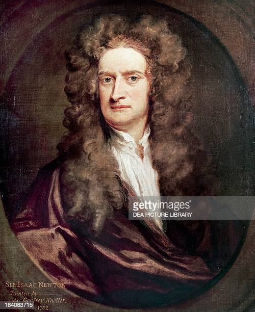 Portrait of Isaac Newton English mathematician physicist and astronomer Painting by Godfrey Kneller London National Portrait Gallery