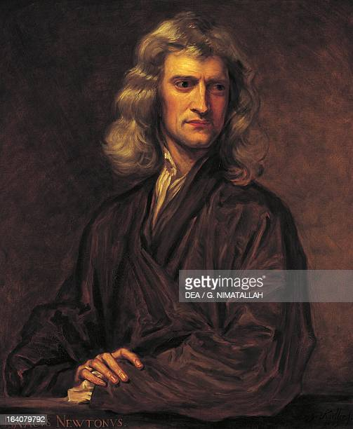 Portrait of Isaac Newton English mathematician physicist astronomer London National Museum Of Science And Industry Science Museum