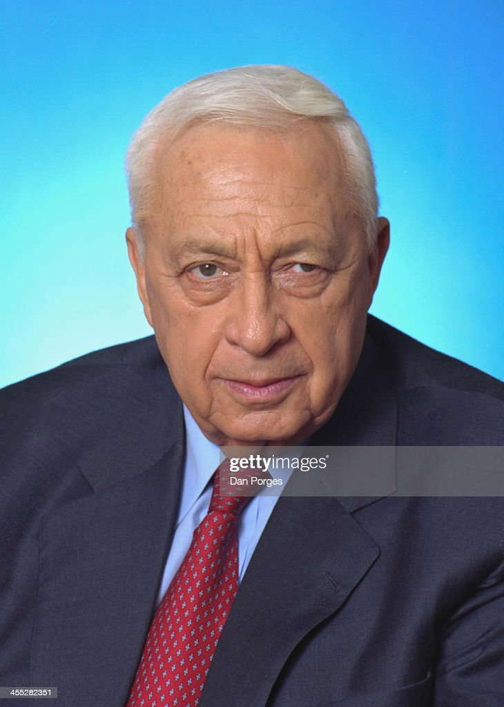 Portrait of Israeli former Prime Minister <a gi-track='captionPersonalityLinkClicked' href=/galleries/search?phrase=Ariel+Sharon&family=editorial&specificpeople=156426 ng-click='$event.stopPropagation()'>Ariel Sharon</a>, near Sderot, Israel, January 1, 2001. The photo was taken at his ranch, Havat Hashikmim.