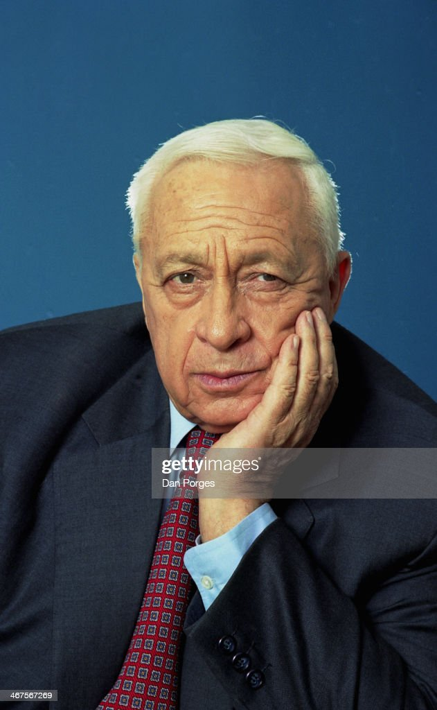 Portrait of Israeli former Prime Minister Ariel Sharon near Sderot Israel January 7 2001 The photo was taken at his ranch Havat Hashikmim