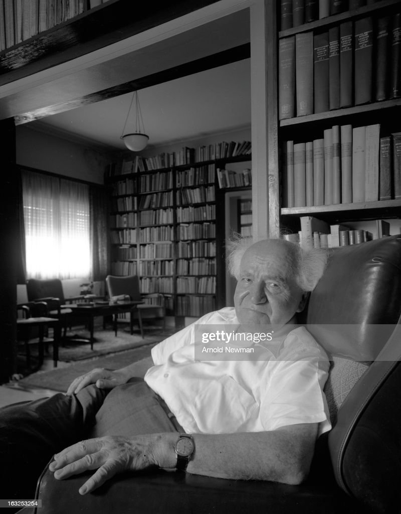 Portrait of Isreali former Prime Minister David Ben-Gurion (1886 - 1973) as he relaxes in an armchair, May 10, 1965.