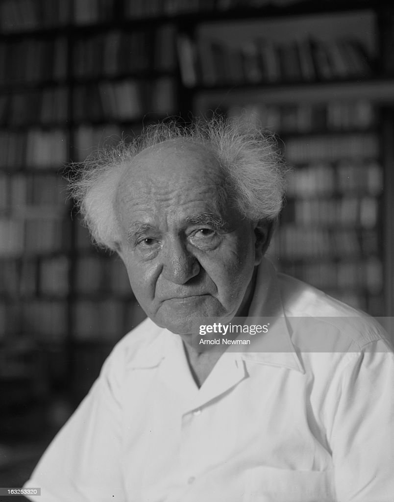 Portrait of Isreali former Prime Minister David Ben-Gurion (1886 - 1973), May 10, 1965.