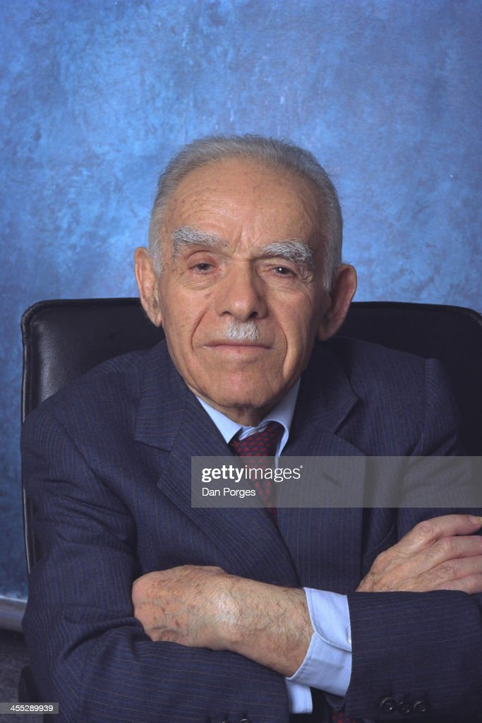 Portrait of Israeli politician and former Prime Minister Yitzhak Shamir (1915 - 2012), Tel Aviv, Israel, March 27, 2001.