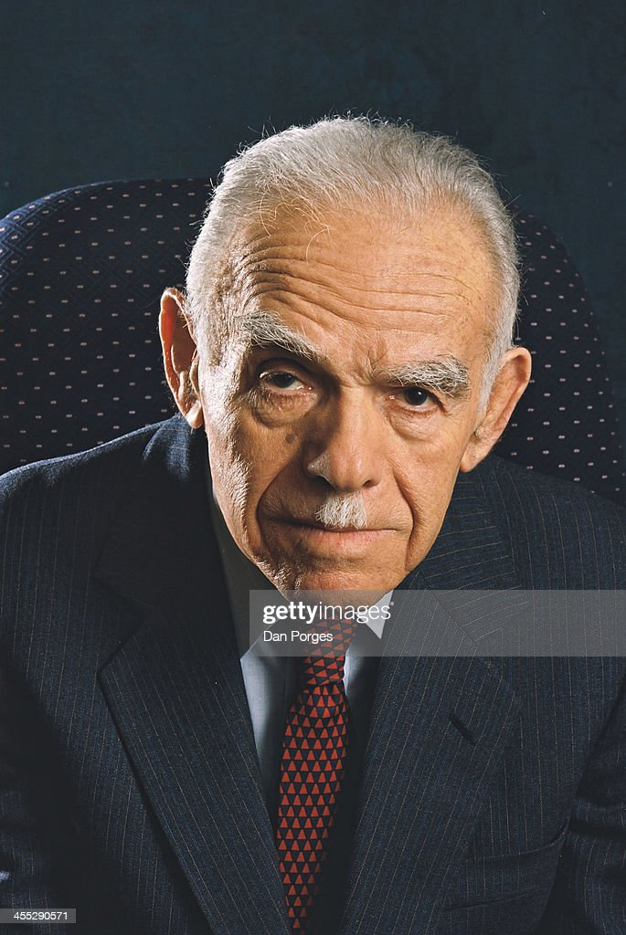 Portrait of Israeli politician and former Prime Minister Yitzhak Shamir Tel Aviv Israel March 27 2001