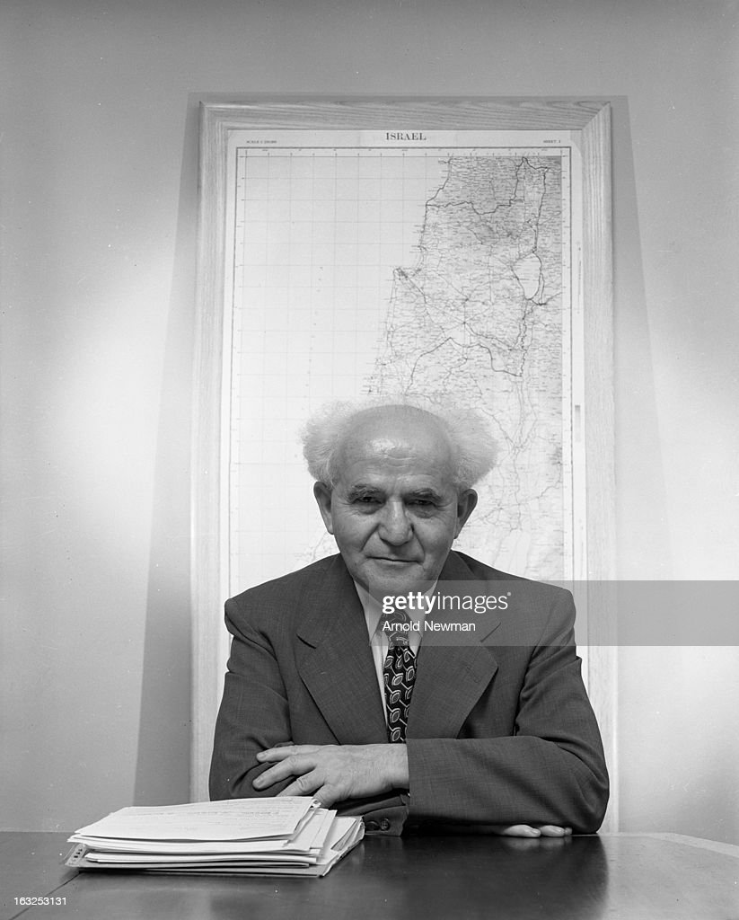 Portrait of Isreali Prime Minister David Ben-Gurion (1886 - 1973), May 1951.