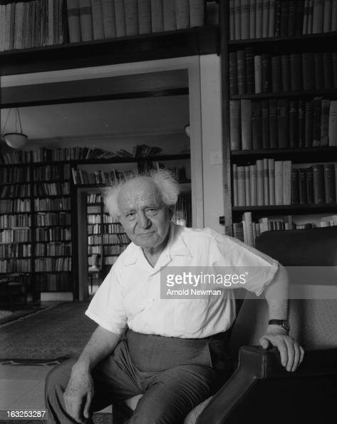 Portrait of Isreali former Prime Minister David BenGurion as he sits in an armchair May 10 1965