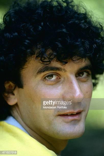Portrait of Italian actor and director Massimo Troisi 1981