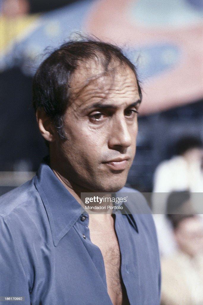 Portrait of Italian actor singer and songwriter Adriano Celentano 1979
