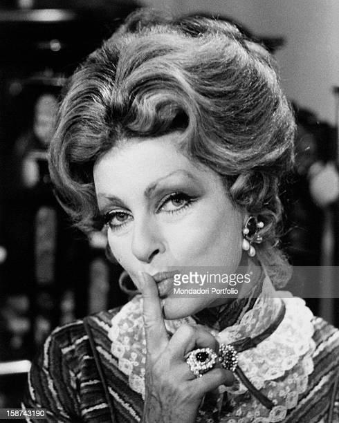 Portrait of Italian actress Silvana Pampanini Rome 1970s