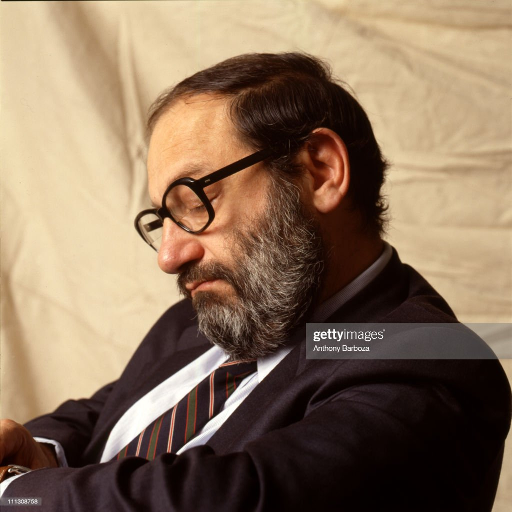 Portrait of Italian author and literary critic <a gi-track='captionPersonalityLinkClicked' href=/galleries/search?phrase=Umberto+Eco&family=editorial&specificpeople=822903 ng-click='$event.stopPropagation()'>Umberto Eco</a>, taken in New York, 2000.
