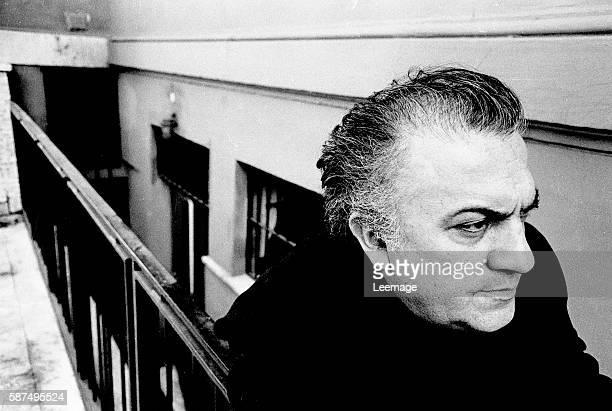 Portrait of italian director Federico Fellini in Rome Italy 1972
