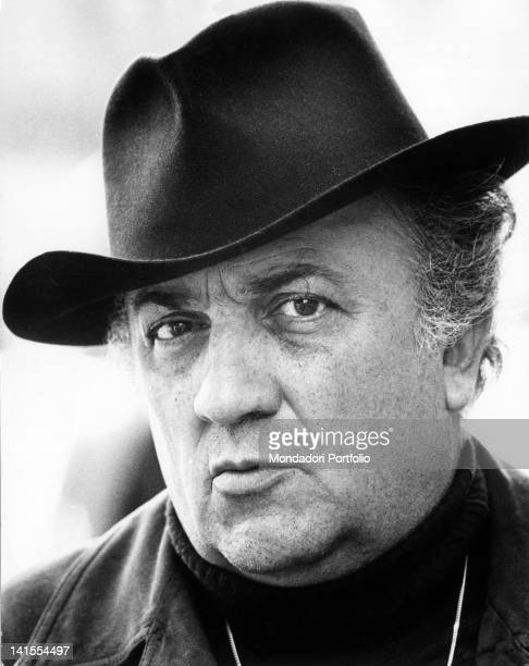 Portrait of Italian director Federico Fellini Rome 1973