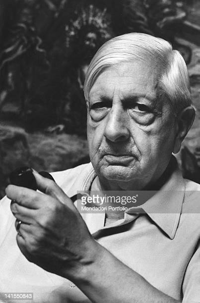Portrait of Italian painter Giorgio de Chirico Rome July 1967