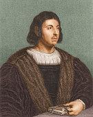 Portrait of Italian poet Giovanni Boccaccio author of the 'Decameron' probably 17th century
