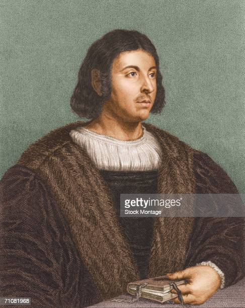 Portrait of Italian poet Giovanni Boccaccio author of the 'Decameron' probably 17th century