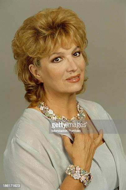 Portrait of Italian singer and TV presenter Iva Zanicchi 2000