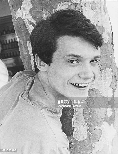 Portrait of Italian singer Massimo Ranieri just after he won the B round of the 6th Cantagiro Photo shooting Italy 1967