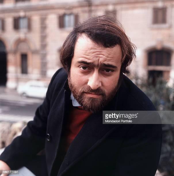 Portrait of Italian singer songwriter and musician Lucio Dalla 1967