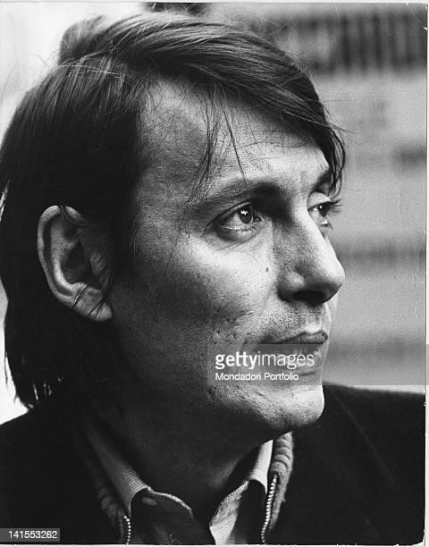 Portrait of Italian singersongwriter Fabrizio De AndrT 1970s