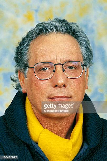 Portrait of Italian singersongwriter standup comedian and actor Enzo Jannacci The singersongwriter takes part in the 41st Sanremo Music Festival with...