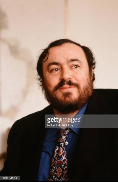Portrait of Italian tenor Luciano Pavarotti at Lincoln Center January 22 1979