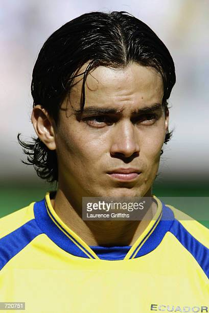 Portrait of Ivan Kaviedes of Ecuador before the FIFA World Cup Finals 2002 Group G match between Mexico and Ecuador played at the Miyagi Stadium in...