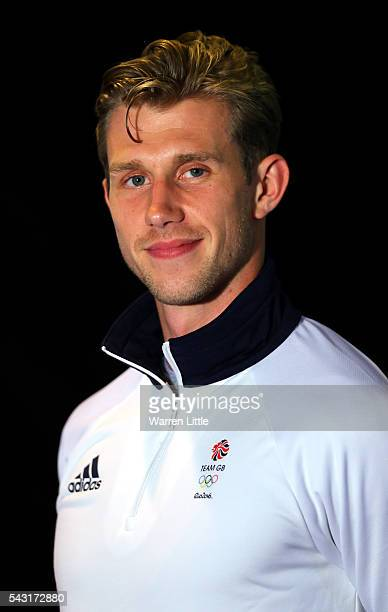 A portrait of Jack Green a member of the Great Britain Olympic team during the Team GB Kitting Out ahead of Rio 2016 Olympic Games on June 26 2016 in...