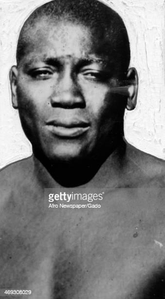 Portrait of Jack Johnson first African American world heavyweight boxing champion 1908
