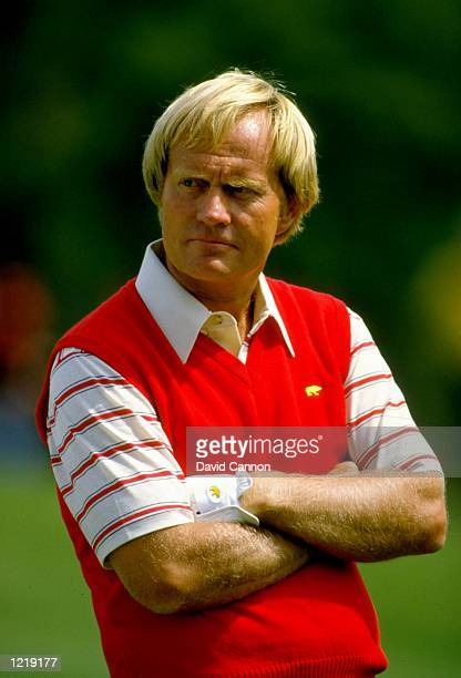 Portrait of Jack Nicklaus of the USA during the US Masters at the Augusta National Golf Club in Georgia USA Nicklaus won the event with a score of...