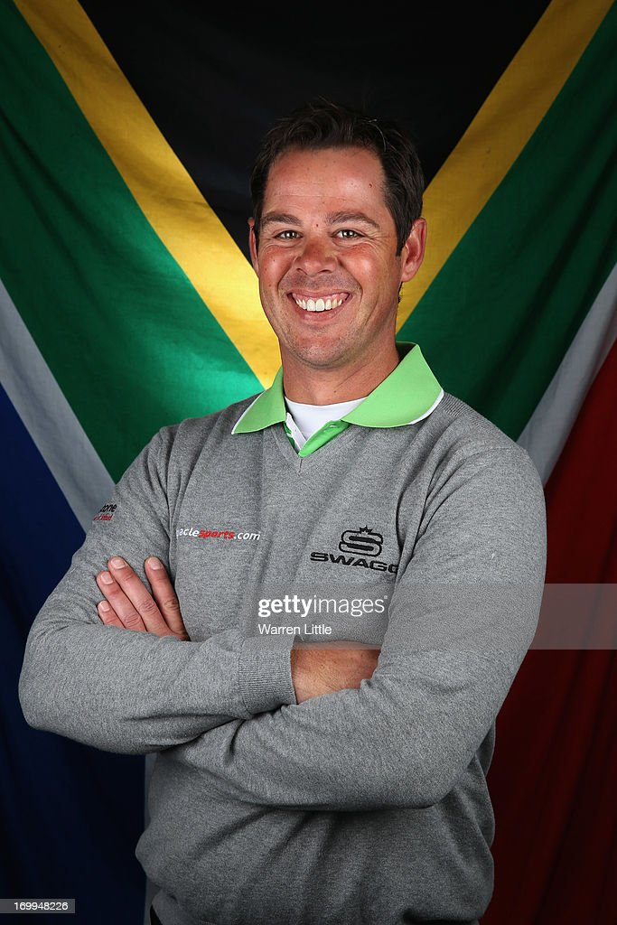 A portrait of Jaco Van Zyl of South Africa ahead of the BMW PGA Championship at Wentworth on May 21, 2013 in Virginia Water, England.