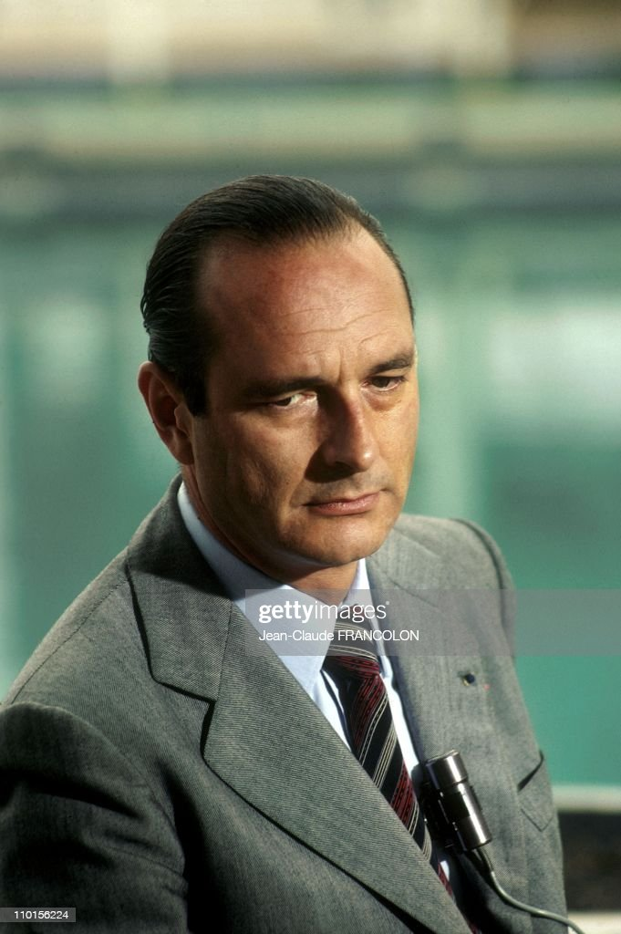 Portrait of Jacques Chirac in France in Octorber, 1977.