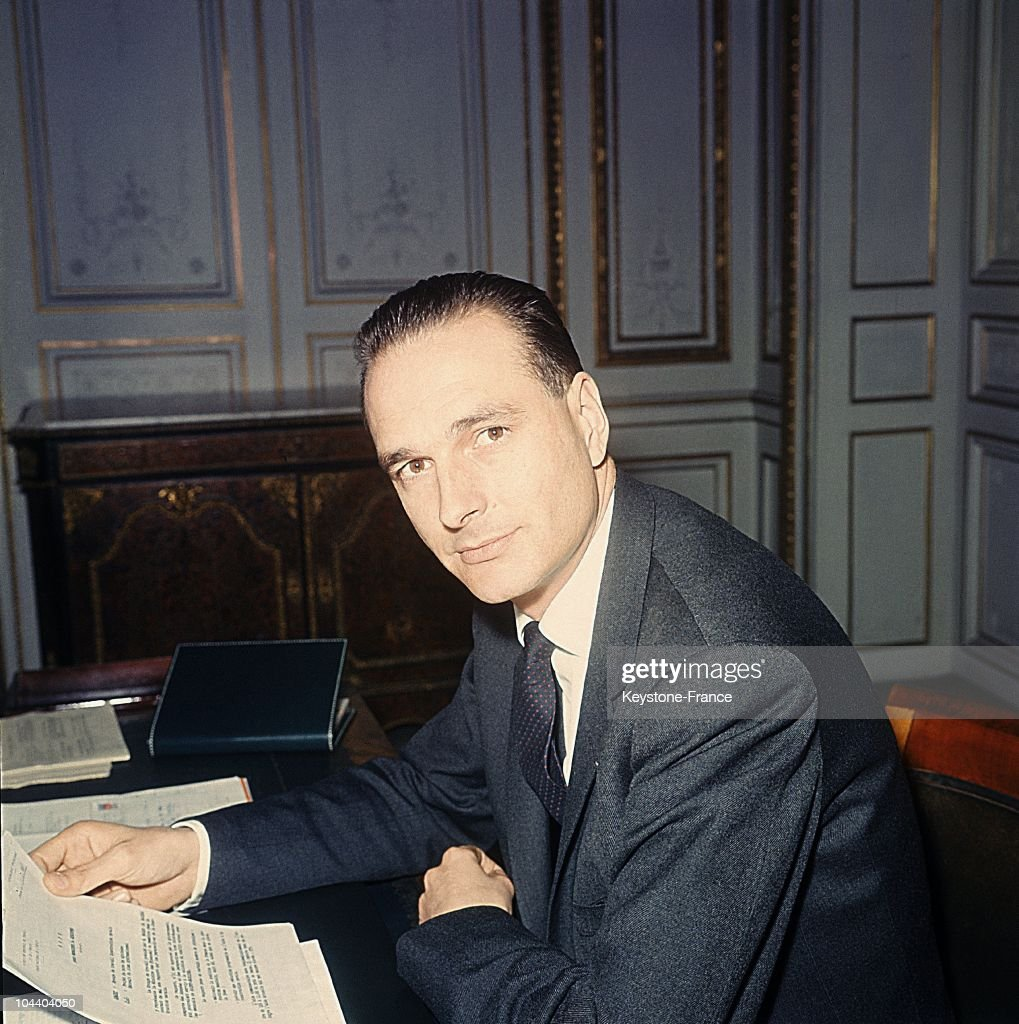 Portrait of Jacques CHIRAC then deputy of Correze in his office